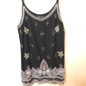 LF embellished top